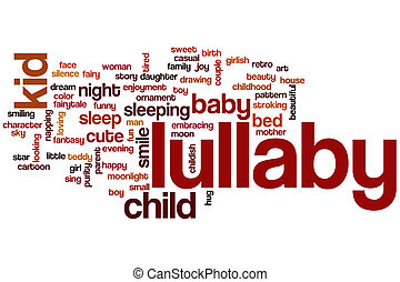 Lullaby word cloud concept