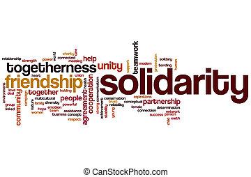 solidarietà, parola, nuvola,