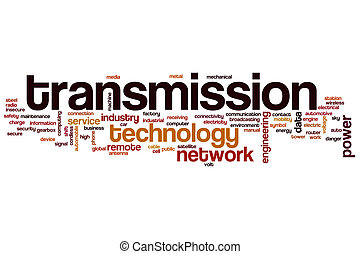 Transmission word cloud concept