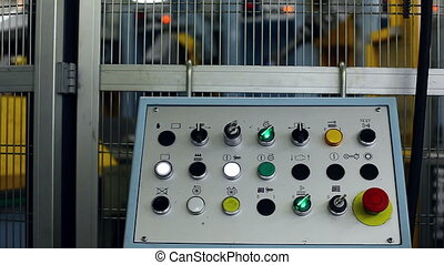 View of control panel flashing, close-up