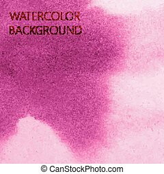 vector abstract pink watercolor background for your design