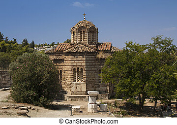 Old Orthodox church at the Agora, Athens, Greece