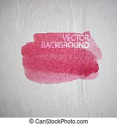 vector illustration of red watercolor stain or blotch on the...