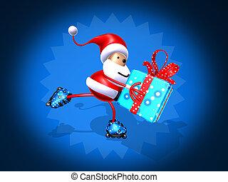 Santa Claus skating - Santa Claus