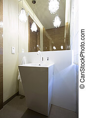 Luxury washroom with designed washstand - Luxury modern...