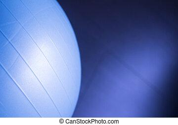 Pilates gym aerobics exercise ball - Blue pilates gym...