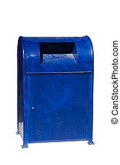 Mail box - Blue Mail box USA on white background