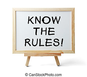 Know The Rules - Whiteboard with Know The Rules text is...