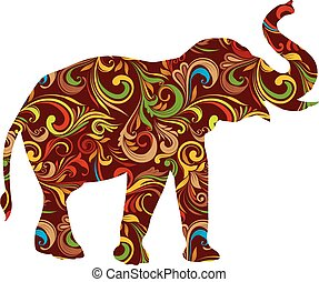 Red Elephant Ornamental