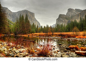 Yosemite Valley National Park California in autumn