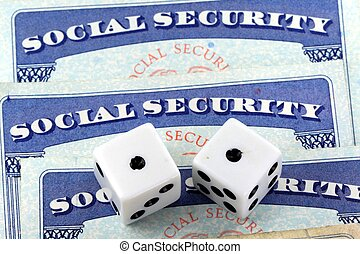 Social security benefits concept - Social security and...