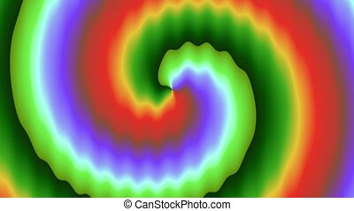Animation of abstract background - Abstract motion waves of...