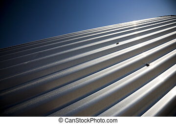 Corrugated sheet iron