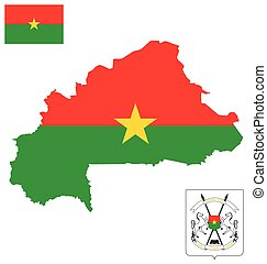 Burkina Faso Flag - Flag and national coat of arms of...