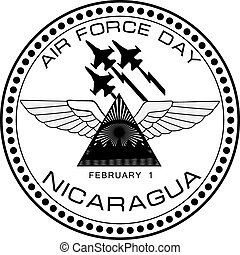 Air Force Day Nicaragua - Air Force symbol of Nicaragua on...