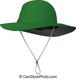 Sun Hat - Cloth hat from the sun with a wide brim Vector...