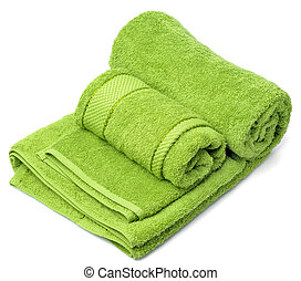 towel  - One towel on a white background