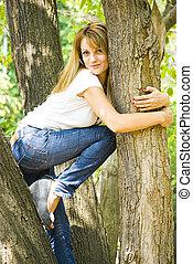 beautiful young woman posing - beautiful young model posing...