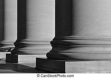 Black and White Pillars