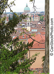 Roofs of Udine, Italy - Panoramic view of city of Udine,...