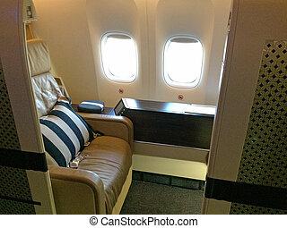 First class air travel