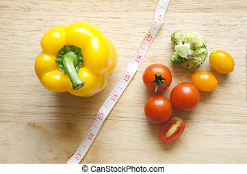 vegetables on table (diet concept)