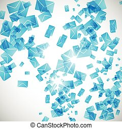 abstract background: envelope