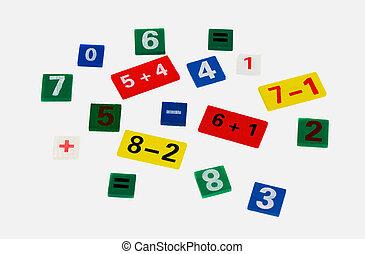 colored numerals