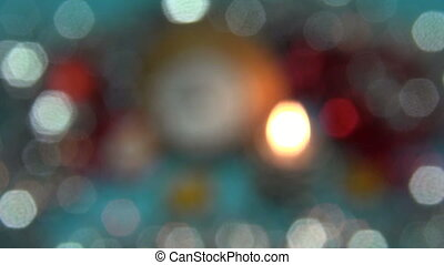 Christmas New Year blur background