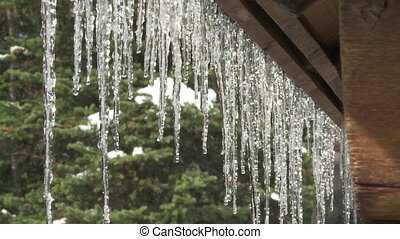 Mtn Cabin with Dripping Icicles 3