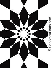 Abstract black and white illustration - Abstract black and...