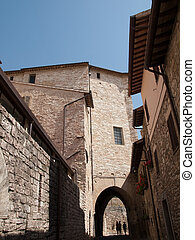 Assisi-Italy - The narrow streets in Assisi