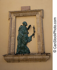 Assisi-Italy - Relief at the church of Santa Maria Maggiore...