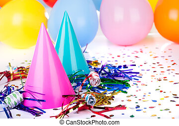 Party Decorations - Birthday party decorations of hats,...