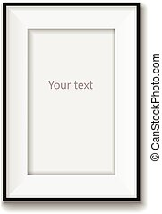 Picture frame vector isolated on white background. Vector illustration