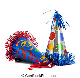Birthday party hats - Group of colorful birthday party hats...
