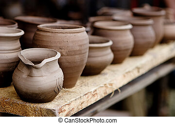 Pottery in crafts fair - Pottery, traditional handmade...