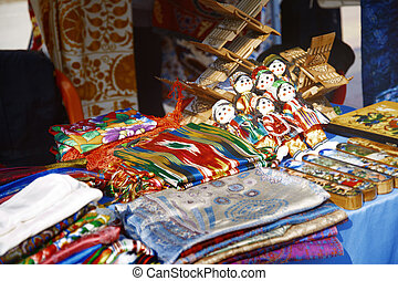 Flea market - Handmade items in the open-air flea market