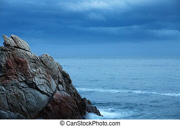 Crag - Scaur Dramatic seascape in the evening