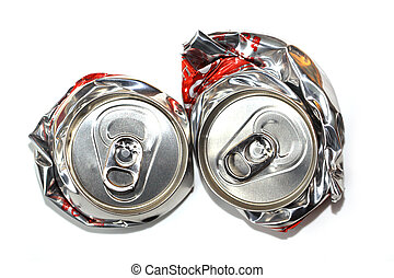 Empty can of soda