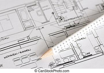 costruzione, piano