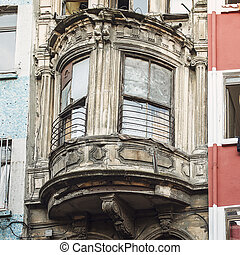 Balcony of the Typical House of Istanbul, Turkey