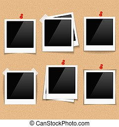 Photo Frames on Bulletin Board - Photo frames on bulletin...