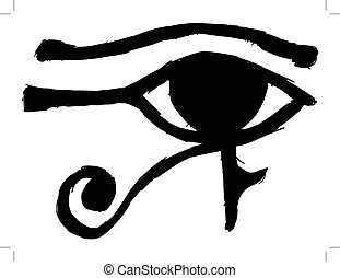Eye of Ra - black silhouette of Eye of Ra