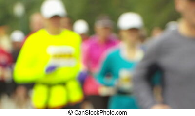 Marathon Runners soft focus - Soft focus shot of marathon...