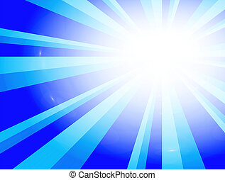 Blue impact - Blue dynamic lines with light effect. Abstract...