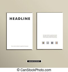 Magazine cover template with clean fronts eps