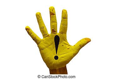 palm caution