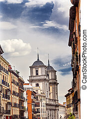 Santa Iglesia Collegiata de San Isidro Church Street Madrid...