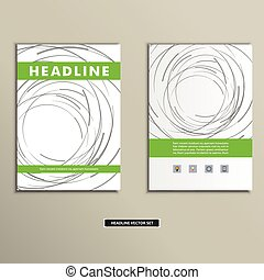 Book cover with abstract colored lines and circles